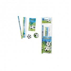 Set 5 piezas papelería futbol