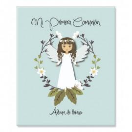 Álbum de firmas y fotos 1º comunión niña