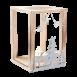 Surtido de portavelas de madera