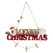 Cartel decorativo Merry Christmas