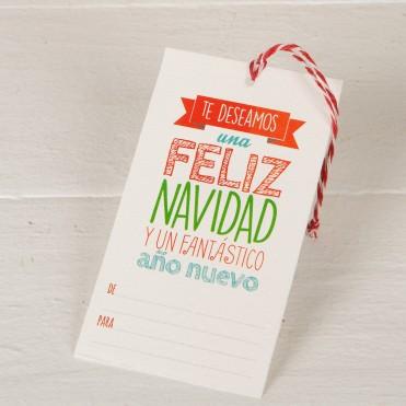 """Pack tarjetas para regalos """"Feliz Navidad"""""""