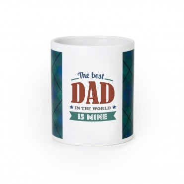 Taza frase The best dad in the world is mine