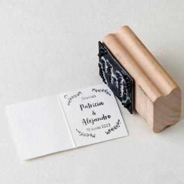 Sello personalizado rectangular tarjetas