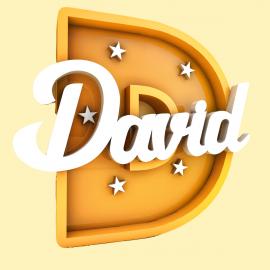 Letra inicial iluminada más nombre