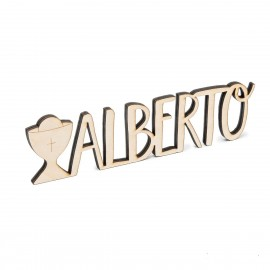 Letrero de madera personalizado 1 nombre