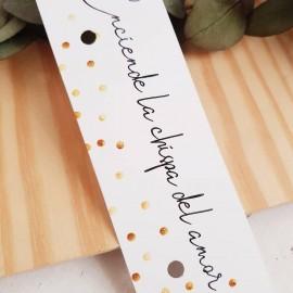 Cartón para bengala topos dorados