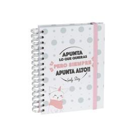 """Cuaderno A5 """"APUNTA LO QUE QUIERAS PERO SIEMPRE APUNTA ALTO"""""""