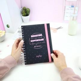 """Cuaderno A5 """"RESISTIRÉ"""""""
