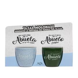 DOS TAZAS DE CAFE ABUELO Y ABUELA