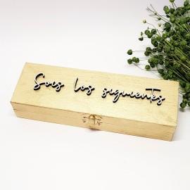 Caja de madera para los siguientes